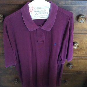 Polo. Short Sleeve. Size XXL. Burgundy